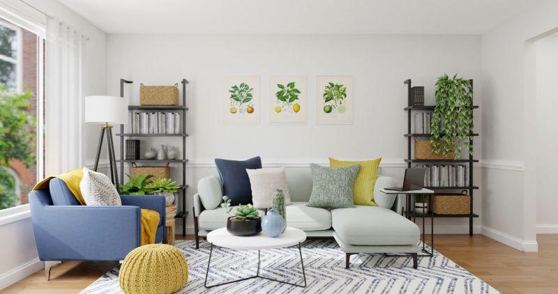 idées fraîches de décoration de salon pour s'approprier le printemps