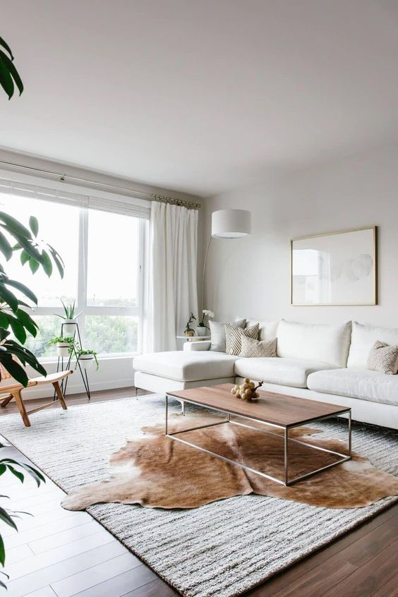 Accessoires pour salon minimaliste cozy