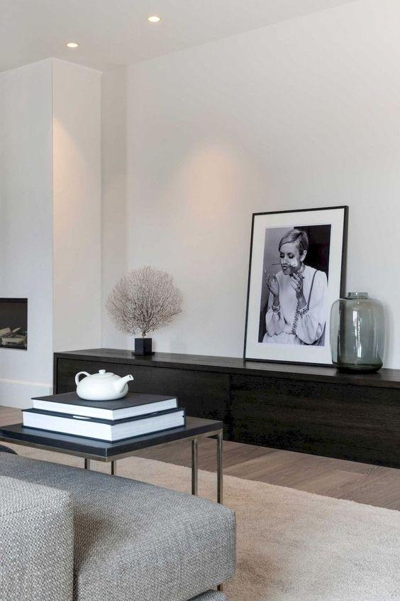 Décoration de salon minimaliste cozy
