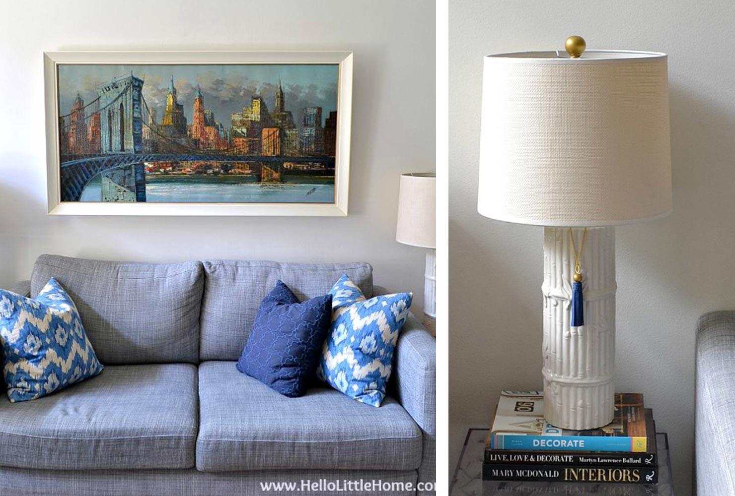 Lampes de canapé bleues