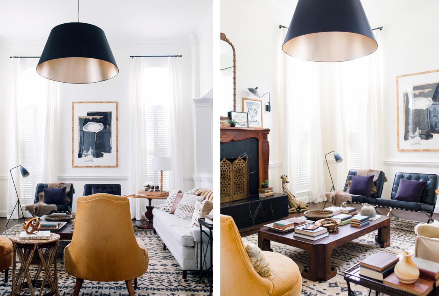 Petit salon avec plusieurs chaises
