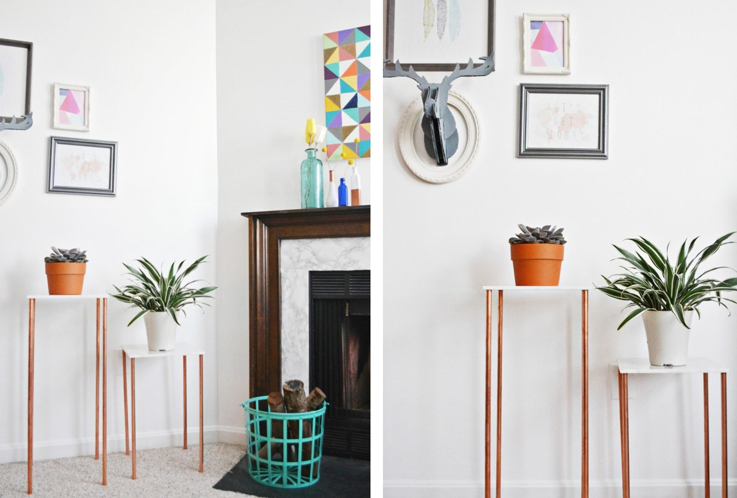 Petit salon avec un mobilier minimal