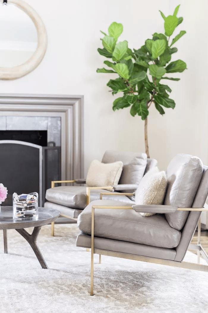 Salon minimaliste et décontracté