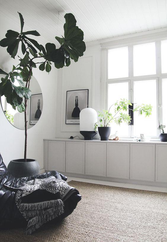 Salon minimaliste lumineux