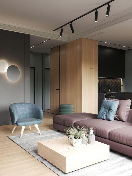 Touches de bois pour votre salon minimaliste