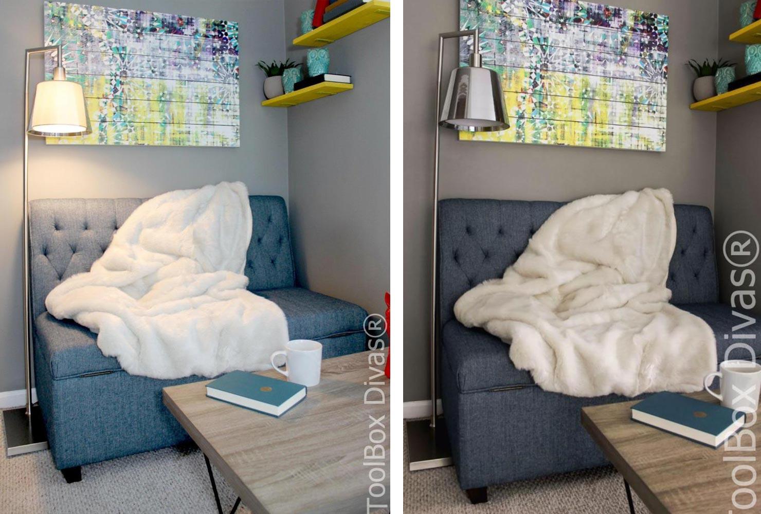 petit salon avec petit coin de lecture
