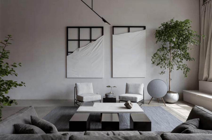créer un salon élégant de style industriel