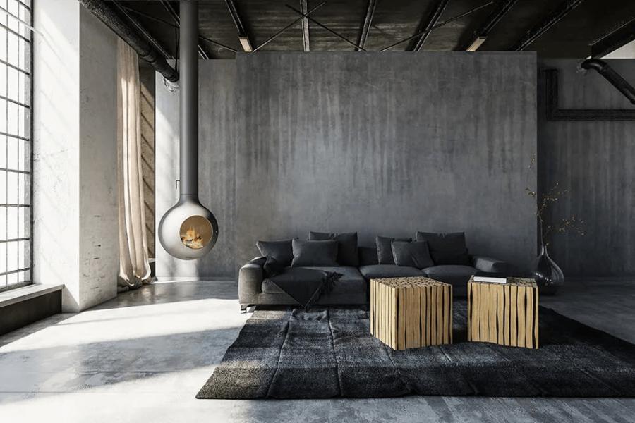 idées de salon industriel pour une décoration vintage