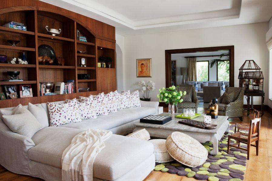 oreillers de salon qui changent la décoration de la pièce