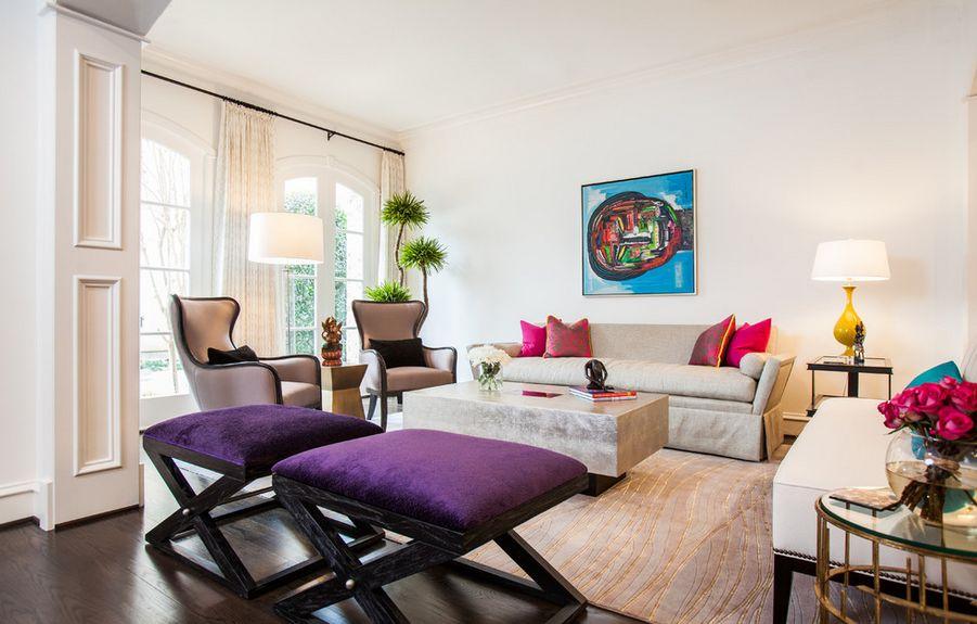 plantes d'angle et chaises de salon