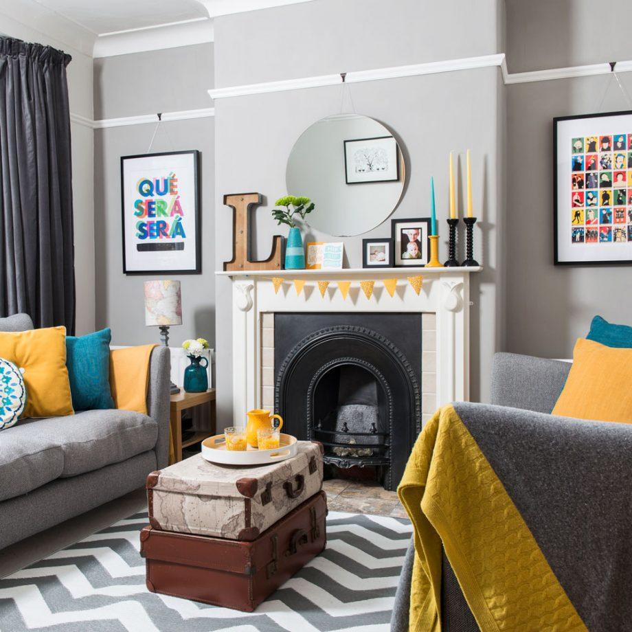 Salon gris pâle Ideal Home
