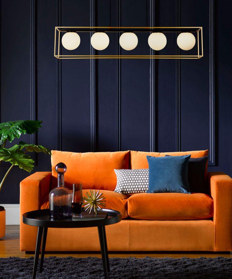 Canapé bleu pour le salon